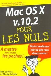 Mac Os X V 10.2 - Intérieur - Format classique