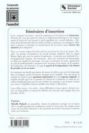 Itineraires D'Insertion - 4ème de couverture - Format classique
