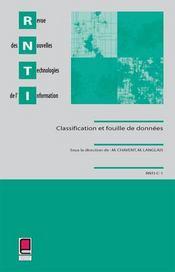 Revue des nouvelles technologies de l'information ; classification et fouilles de donnees - Intérieur - Format classique