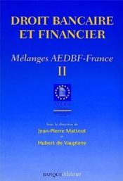 Droit banquaire et financier t.2 - Couverture - Format classique