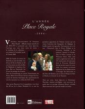 L'année place royale (édition 2006) - 4ème de couverture - Format classique