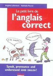 Le Petit Livre ; De L'Anglais Correct - Intérieur - Format classique