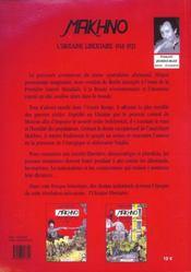 Makhno t.2 ; l'Ukraine libertaire 1918-1921 - 4ème de couverture - Format classique