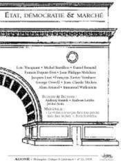 Revue Agone N.22 ; Etat, Démocratie Et Marché - Couverture - Format classique