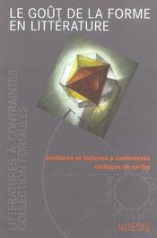Revue Formules ; Le Goût De La Forme En Littérature ; Ecritutres Et Lectures A Contraintes ; Colloque De Cerisy - Intérieur - Format classique