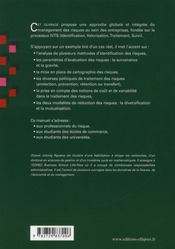 Management Des Risques - 4ème de couverture - Format classique