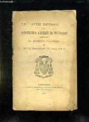 Lettre Pastorale N° 68. Promulgant La Premiere Encyclique De Notre Saint Pere Le Pape Pie X. - Couverture - Format classique