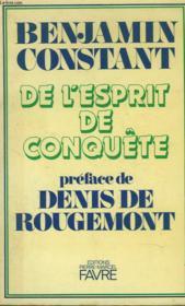 De L4!esprit De Conquete. Preface De Denis De Bougemont - Couverture - Format classique