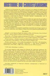 Histoire du christianisme t.13 ; crises et renouveau (de 1958 à nos jours) - 4ème de couverture - Format classique