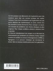 L'Alpha Et L'Omega De La Geometrie Capes Agregation Universite - 4ème de couverture - Format classique