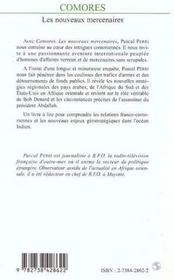 Comores ; les nouveaux mercenaires - 4ème de couverture - Format classique