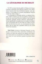 La Geographie De Michelet, Territoire Et Modeles Naturels Dans Premieres Oeuvres - 4ème de couverture - Format classique