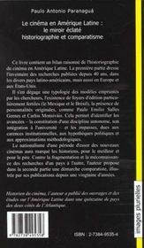 Le Cimena En Amerique Latine ; Le Miroir Eclate ; Historiographie Et Comparatisme - 4ème de couverture - Format classique