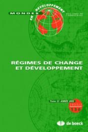 Mondes En Developpement N.130 ; Régimes De Change Et Développement - Couverture - Format classique