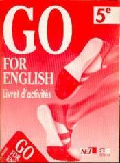 Go For English 5e / Livret D'Activites (Afrique De L'Ouest) - Couverture - Format classique