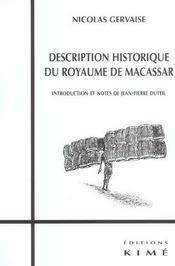 Histoire Du Royaume De Macassar - Intérieur - Format classique