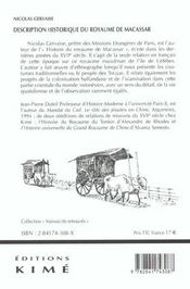 Histoire Du Royaume De Macassar - 4ème de couverture - Format classique