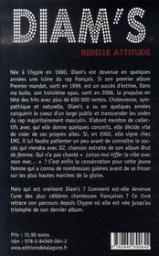 Diam's ; rebelle attitude - 4ème de couverture - Format classique