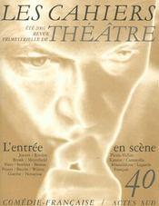 Les Cahiers De La Comedie Francaise T.40 - Intérieur - Format classique