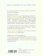 Les Cahiers De La Comedie Francaise T.40 - 4ème de couverture - Format classique
