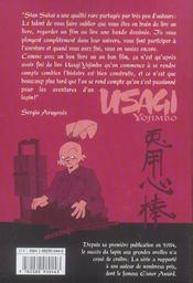 Usagi yojimbo t.7 - 4ème de couverture - Format classique