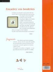 Encadrez Vos Broderies - 4ème de couverture - Format classique