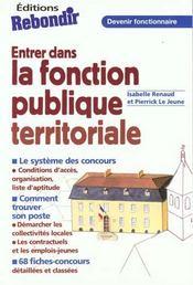 Entrer Dans La Fonction Publique Territoriale - Intérieur - Format classique