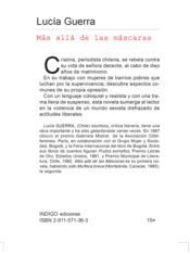 Mas alla de las mascaras - Couverture - Format classique