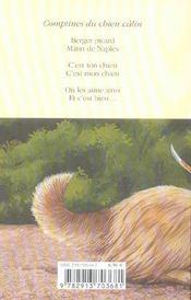 Comptines Du Chien Calin - 4ème de couverture - Format classique