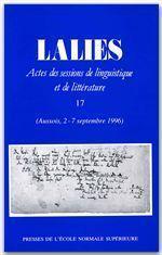 Revue Lalies N.17 - Couverture - Format classique