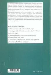 Calcul Differentiel Cours Et Exercices Corriges - 4ème de couverture - Format classique