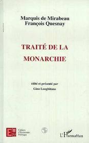 Marquis de Mirabeau François Quesnay ; traité de la monarchie - Intérieur - Format classique
