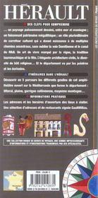 Hérault - 4ème de couverture - Format classique