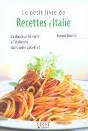 Le petit livre de recettes d'Italie - Intérieur - Format classique
