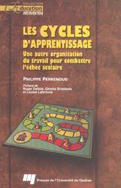 Cycle D'Apprentissage. Une Autre Organisation Du Travail - Intérieur - Format classique