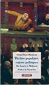 Théâtre populaire, enjeux politiques - Couverture - Format classique