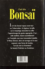 L'Art Du Bonsai - 4ème de couverture - Format classique