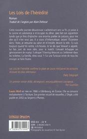 Les Lois De L Heredite - 4ème de couverture - Format classique