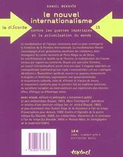 Le nouvel internationalisme ; contre les guerres impériales et la privatisation du monde - 4ème de couverture - Format classique