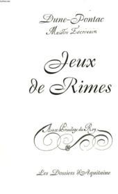 Jeux De Rimes - Couverture - Format classique