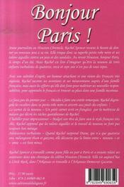 Bonjour paris - 4ème de couverture - Format classique