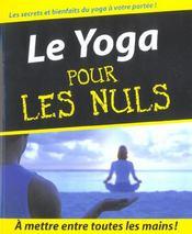 Yoga pour les nuls - Intérieur - Format classique