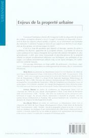Enjeux De La Proprete Urbaine - 4ème de couverture - Format classique