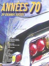 Années 70 ; 39 grands succès - Intérieur - Format classique