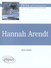 Hannah Arendt - Intérieur - Format classique