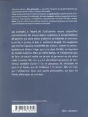 Bentham Philosophe De L'Utilite - 4ème de couverture - Format classique