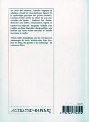 La croix des oiseaux ; traces - 4ème de couverture - Format classique