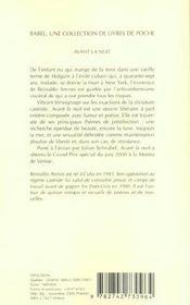 Avant La Nuit Babel 458 - 4ème de couverture - Format classique