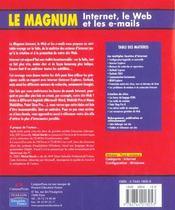 Internet le Web et les e-mails - 4ème de couverture - Format classique