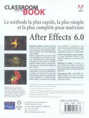 After effects 6 - 4ème de couverture - Format classique
